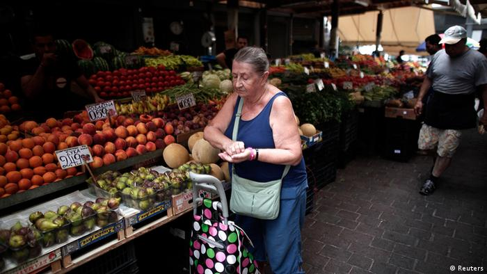 Fruit and vegetable market in Athens