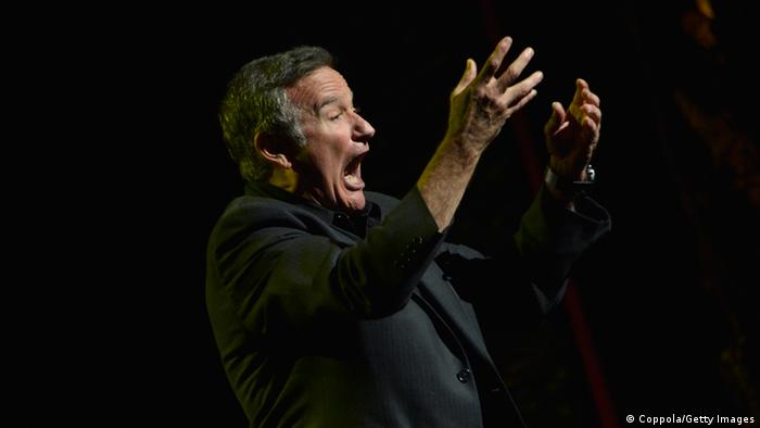 Robin Williams on stage, Copyright: Mike Coppola/Getty Images