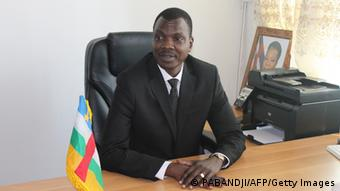 Mahamat Kamoun, the new Prime Minister of the Central African Republic seated in his office.