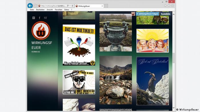 Screenshots of right-wing propaganda (Photo: Jugendschutz.net)