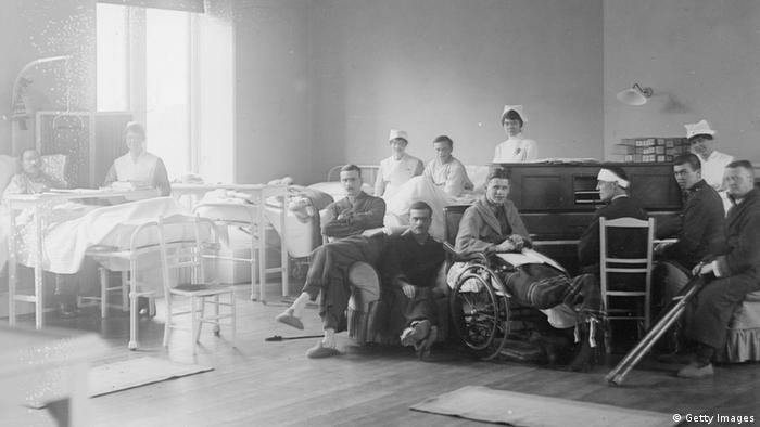 Erster Weltkrieg Musizieren im Krankenhaus London