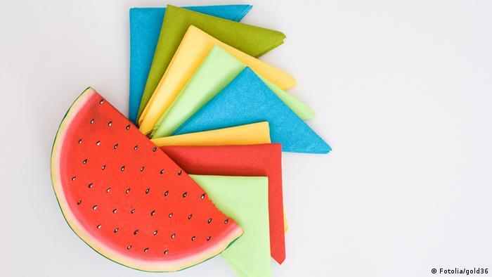 Разноцветные салфетки