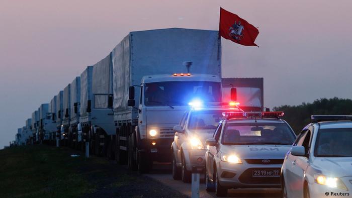 Russischer Hilfskonvoi für die Ukraine. Foto: REUTERS/Maxim Shemetov