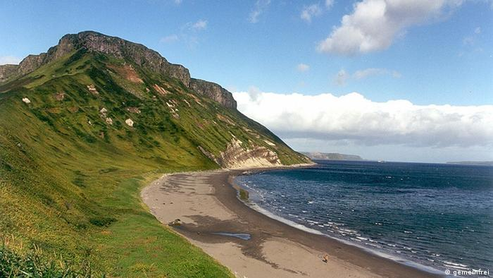 Beach on the Kuril Islands