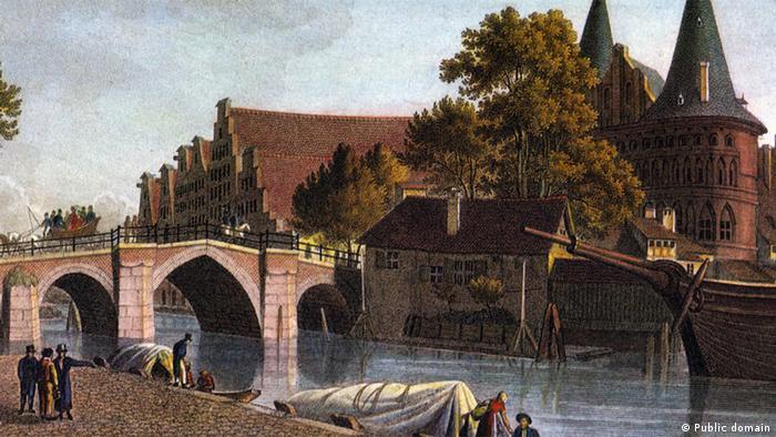 Голштинские ворота на картине 1820 года