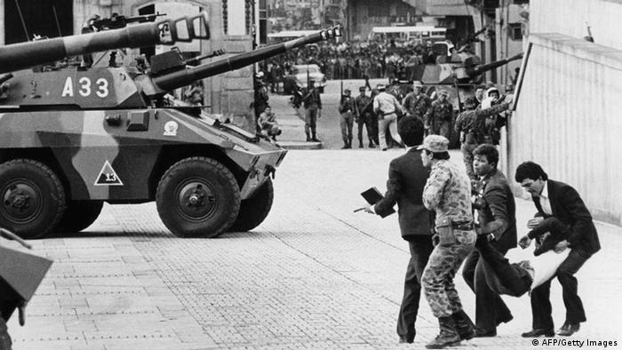 Kolumbien Sturm auf den Justizpalast in Bogota 1985 (AFP/Getty Images)