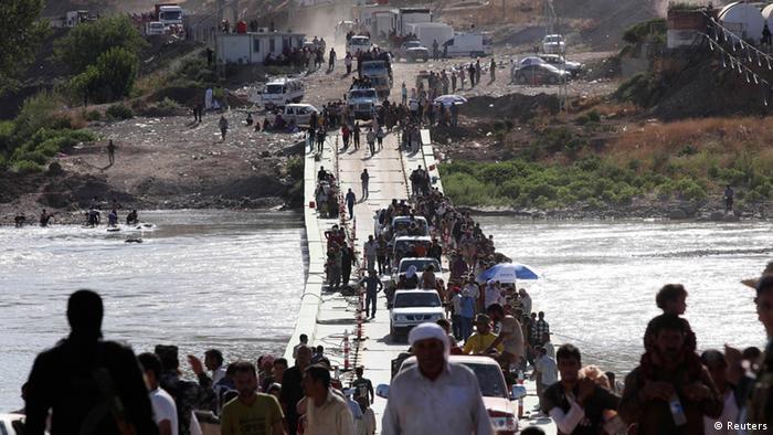 Jesiden auf der Flucht in Nordirak. Foto: REUTERS/Ari Jalal.