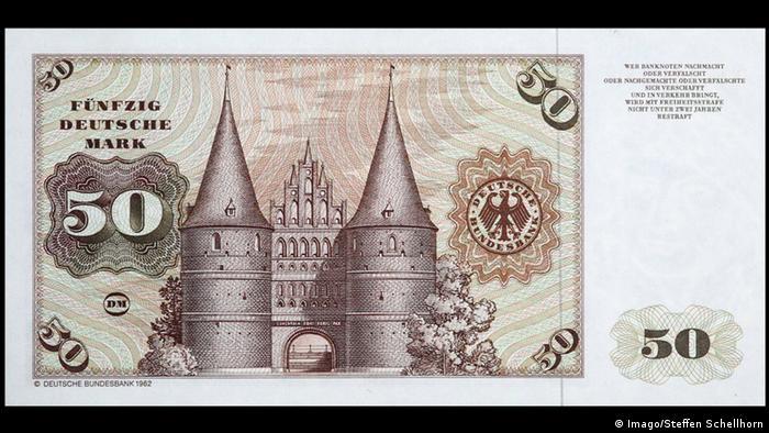 50 немецких марок образца 1962-1991 годов