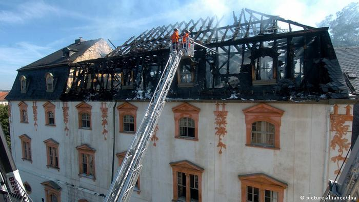 Brand in der Anna Amalia Bibliothek in Weimar