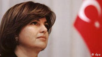 Tansu Ciller türkische Außenministerin, aufgenommen am 14.3.1997 in Helsinki.