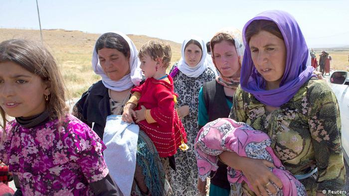 Jesiden in Sinjar Nordirak 13.08.2014 (Reuters)