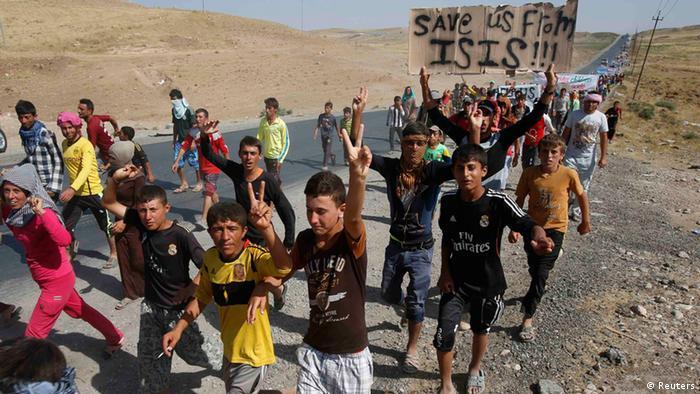 Jesidische Flüchtlinge im Nordirak (Foto: Reuters)