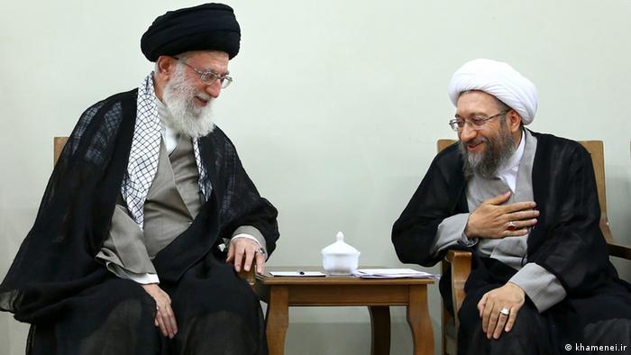 Risultati immagini per خامنه ای صادق لاریجانی
