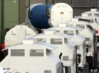Contededores con residuos nucleares rumbo al depósito de Gorleben.