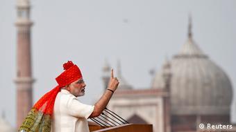 Indiens Premierminister Modi Feier des Unabhängigkeitstags 15.08.2014