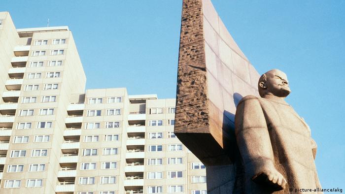 Памятник Ленину на площади Ленина в Восточном Берлине