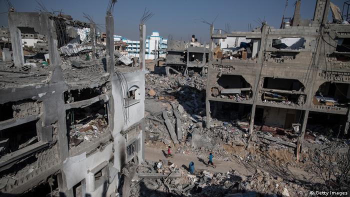 Gaza-Streifen: Kinder spielen in Ruinen (Foto: Getty Images)