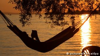Relaxing on the shore of Lake Constance