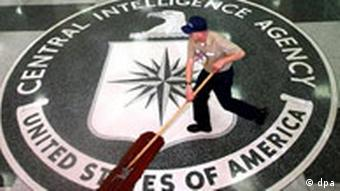 Der Eingang des CIA - Hauptquartier in Langley, Virginia