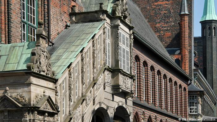 Ренессансная лестница 1594 года со стороны улицы Breite Straße
