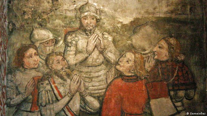 Фреска в одном из помещений ратуши