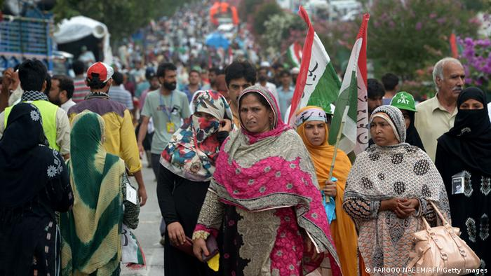 Pakistan Demonstration Tahir-ul-Qadri 16. August (FAROOQ NAEEM/AFP/Getty Images)