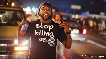 Protest in Ferguson, 15.08.2014 (Foto: Getty Images)