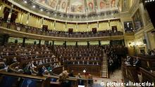A general view of the chamber during the State of the Nation Debate at the Lower House ('Congreso') of Spanish Parliament in Madrid, Spain, 25 February 2014. The debate is being focused on economic recovery and on the sovereighnty plan by Catalonian regional government. EFE/Juanjo Martin