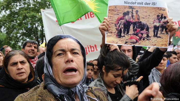 Demonstration Hannover Jesiden und Kurden 16.08.2014 (Foto: dpa)