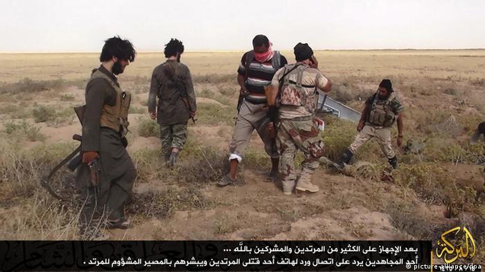 IS-Kämpfer - Foto: Albaraka News (EPA)