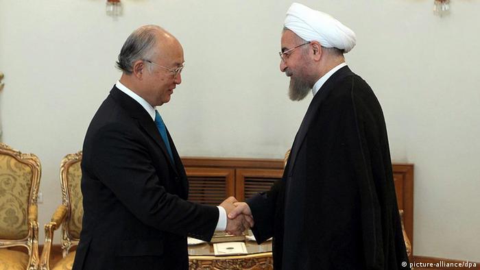 IAEA Iran Tehran Yukiya Amano mit Hassan Rohani