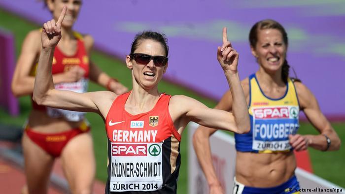 Leichtathletik WM 2014 3000 Meter Hindernislauf Frauen (picture-alliance/dpa)