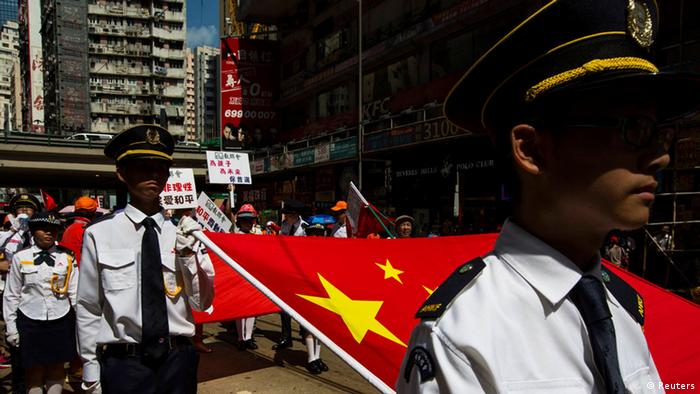 China Occupy Zentral Kampagne in Hong Kong
