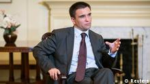 Ukraine's Foreign Minister Pavlo Klimkin speaks during an interview at the Ukrainian Embassy in Washington July 29, 2014. Klimkin welcomed U.S. and European sanctions on Russia announced on Tuesday and pledged Kiev would not attack cities now controlled by pro-Russian separatists in its drive to re-establish control over its territory. To match Interview UKRAINE-CRISIS/KLIMKIN/ REUTERS/Joshua Roberts (UNITED STATES - Tags: POLITICS CIVIL UNREST)