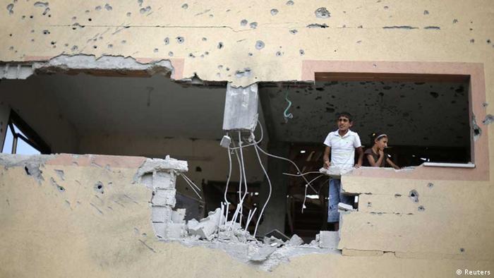 Gaza / Zerstörtes Haus im Gazastreifen / Gaza-Krieg