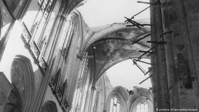 Мариенкирхе после бомбардировки