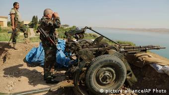 Peschmerga Kämpfer bei Mossul-Damm 17.08.2014
