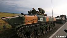 Russische Soldaten an der Grenze zu Ukraine 18.08.2014