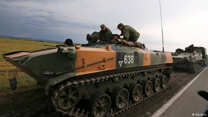 Российские солдаты и бронетехника на границе с Украиной
