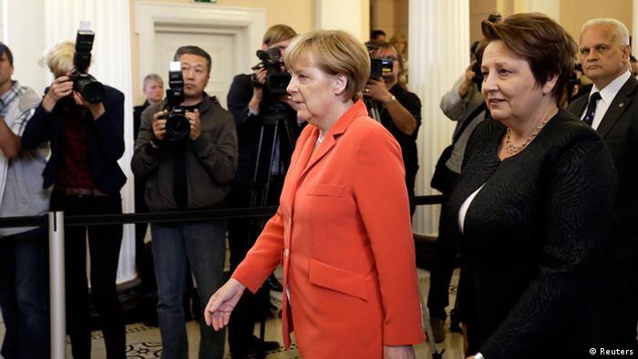 Меркель і Страуюма в Ризі