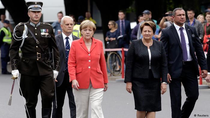 Lettland Deutschland Bundeskanzlerin Angela Merkel in Riga