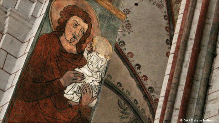 Изображение Святого Христофора в Мариенкирхе