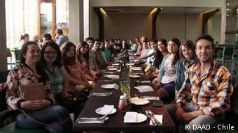 En Talca, Chile, estudiantes de distintas universidades reunidos en un programa para ingenieros del DAAD (Archivo).