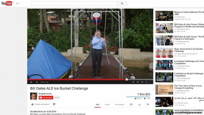 Online Challenges EINSCHRÄNKUNG Bill Gates
