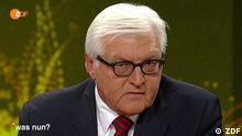 Außenminister Steinmeier in ZDF-Sendung was nun? (Foto: ZDF)