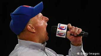 Steve Ballmer, seen here at a pep rally for the Los Angeles Clippers, was known for his enthusiasm and ability to fire up employees at company meetings.