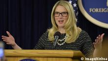 USA Regierungsprecherin Marie Harf in Washington