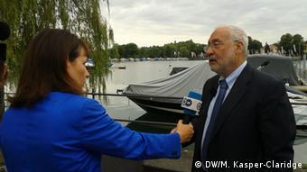 Joseph Stiglitz, Nobel prize winning economist, interviewed by DW