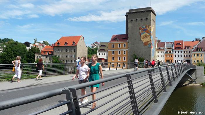 Bridge connecting Görlitz and Zgorzelec, Copyright: DW/Mabel Gundlach