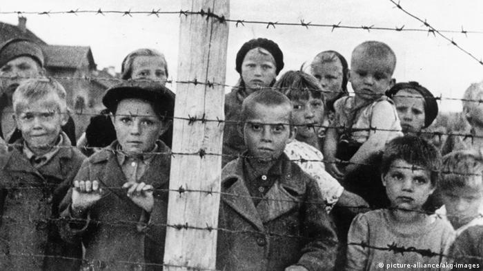 Russische Kinder in einem finnischem Lager